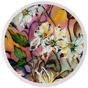 Dance Of The Dogwoods Round Beach Towel