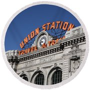 Denver - Union Station Round Beach Towel