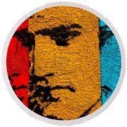 3 Dimensional Elvis Round Beach Towel by Robert Margetts
