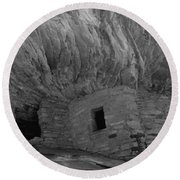 Dwelling Structures On A Cliff, House Round Beach Towel