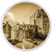 Eilean Donan Castle Round Beach Towel