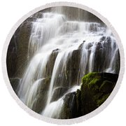 Round Beach Towel featuring the photograph Fairy Falls by Patricia Babbitt