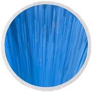 Fiber Optics Close-up Abstract Round Beach Towel