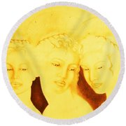 3 Graces Round Beach Towel
