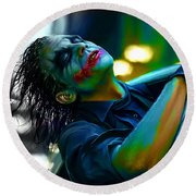 Heath Ledger Round Beach Towel