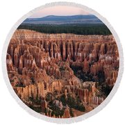 High Angle View Of Rock Formations Round Beach Towel