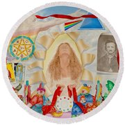 Invocation Of The Spectrum Round Beach Towel