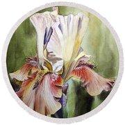 Iris Painting Round Beach Towel