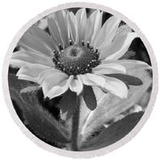 Just A Flower Round Beach Towel by Janice Westerberg