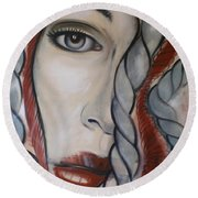 Melancholy 090409 Round Beach Towel by Selena Boron