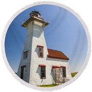 New London Range Rear Lighthouse Round Beach Towel