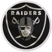 Oakland Raiders Uniform Round Beach Towel