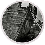 Old Abandoned Ship Round Beach Towel