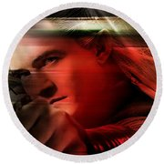 Orlando Bloom Round Beach Towel