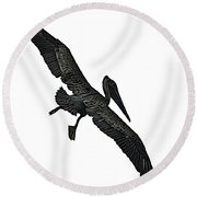 Pelican Selection Round Beach Towel