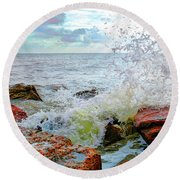 Quintana Jetty Round Beach Towel