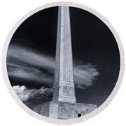 San Jacinto Monument One Sky One Star Round Beach Towel