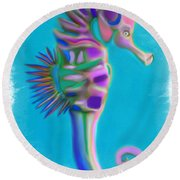 The Pretty Seahorse Round Beach Towel