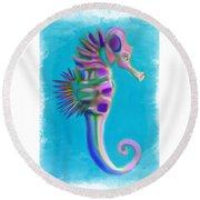 The Pretty Seahorse Round Beach Towel