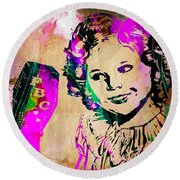 Shirley Temple Collection Round Beach Towel
