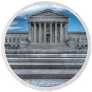 Round Beach Towel featuring the photograph Supreme Court by Peter Lakomy
