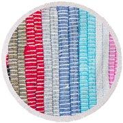 Textile Pattern Round Beach Towel