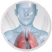 The Respiratory System Child Round Beach Towel