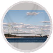 Verrazano Narrows Bridge Round Beach Towel