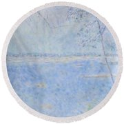 Water Of Les Iles De Lerins France Round Beach Towel