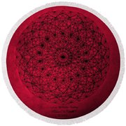 Round Beach Towel featuring the drawing Wave Particle Duality by Jason Padgett