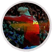 Wayne Rooney Round Beach Towel by Marvin Blaine