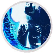 When Heaven And Earth Collide 1 Round Beach Towel