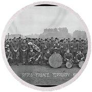 303rd Infantry Band, Paris, France Round Beach Towel
