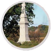 30u13 Hood Park Monument To Civil War Soldiers And Sailors Photo Round Beach Towel