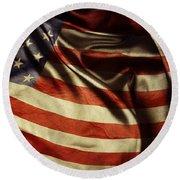 American Flag 51 Round Beach Towel