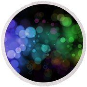 Colour In The Night Round Beach Towel