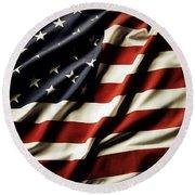 American Flag 61 Round Beach Towel