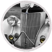'36 Ford Coupe Round Beach Towel