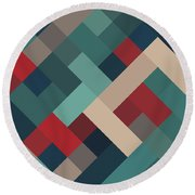 Pixel Art Round Beach Towel