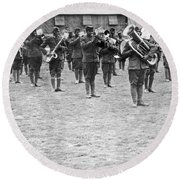 369th Infantry Regiment Band Round Beach Towel by Underwood Archives