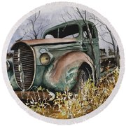 39 Ford Truck Round Beach Towel