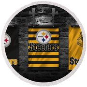Pittsburgh Steelers Round Beach Towel