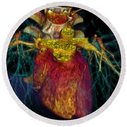 3d Ct Scan Of Heart Round Beach Towel