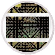 Round Beach Towel featuring the photograph 3d Spheres by Susan Leggett
