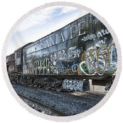 4 8 4 Atsf 2925 In Repose Round Beach Towel by Jim Thompson