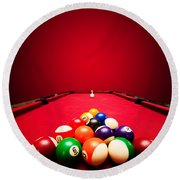 Billards Pool Game Round Beach Towel