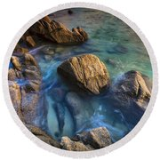 Round Beach Towel featuring the photograph Chanteiro Beach Galicia Spain by Pablo Avanzini