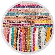 Colorful Rug Round Beach Towel