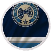 Columbus Blue Jackets Uniform Round Beach Towel