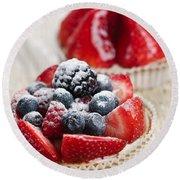 Fruit Tarts Round Beach Towel by Elena Elisseeva